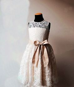 Princess Cute Flower Girl Dress,Cheap Kids Girl Dress,Flower Girl Wedding Gown  #FlowerGirlDress  can also get with a colored sash in eggplant