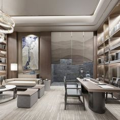 New Chinese Style Tea Room · Geometry Space Design 21606 Model available on CGmodelX, High quality Produced by Design Connected. Chinese Tea Room, New Chinese, Chinese Style, Hotel Interiors, Office Interiors, Living Room 3ds Max, 3d Max Vray, 3ds Max Models, Table Shelves