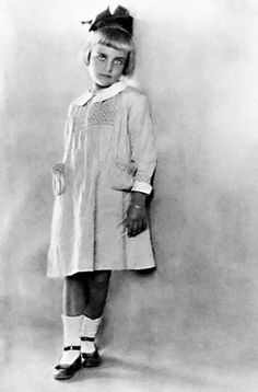 actress Carole Lombard at the age of 7 years.