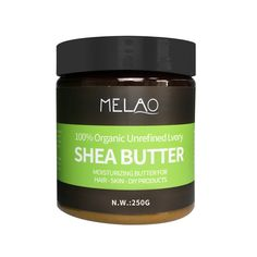 Raw Natural Organic Unrefined Shea Butter Cream Shea Butter Cream, Unrefined Shea Butter, Moisturize Hair, Pure Essential Oils, Dry Hair, Healing, Organic, Skin Care, Natural