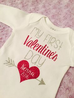 Hey, I found this really awesome Etsy listing at https://www.etsy.com/listing/261299238/my-first-valentines-day-bodysuit-baby