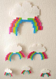 Hama beads rainbows
