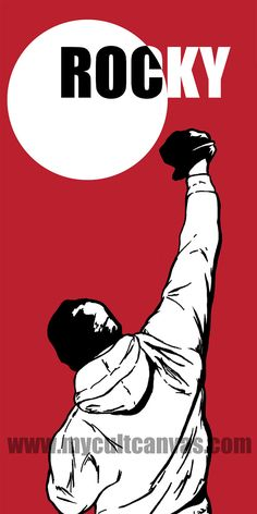 "Original Rocky ""Balboa"" Art Print Poster Boxing Movie Apollo by RedPandaDesigns on Etsy"