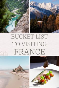 Bucket list places to visit in France! Discover this bucket list for this European travel destination, France, with these list of things to do and see when traveling to France! France is filled with cities, natural wonders and other things to do and see! | Bucket list France | Things to do in France | Travel ideas France | Visit France #france #europe #paris #bucket #list #city #natural #wonder #things #travel #ideas #guide Paris Travel Tips, Europe Travel Guide, Travel Abroad, Travel Ideas, Travel Inspiration, Travel Destinations, Visit France, France Europe, France Travel