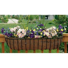 Deck flower box-just bought four of these! Can't wait until May 10th!