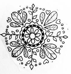 Hungarian folk art inspired flower