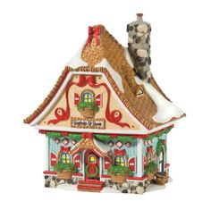 Amazon.com - Department 56 North Pole Village Baskets & Bows Lit House - Holiday Collectible Buildings
