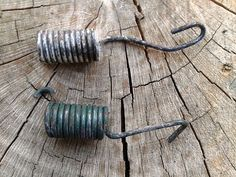 Vintage Auto Springs Set of Two Long and Small Green by JUNQFUSION, $6.00