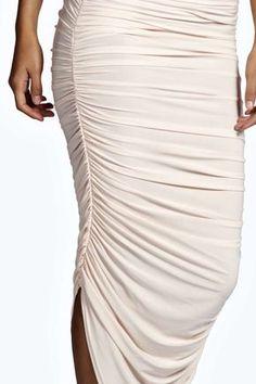 Julia Slinky Rouched Side Midi Skirt alternative image Pencil Dress 531edf3d3