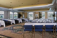 The conference and meeting rooms at Stage Neck Inn overlook the Atlantic Ocean and York Harbor.
