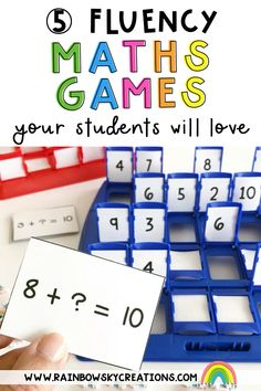 Because learning is supposed to be fun, we LOVE creating hands-on learning experiences for kids! Here are our top 5 games that would be perfect to prep and use all year round to strengthen your student's number sense and build fluency. Kindergarten Math Activities, Math Resources, Teaching Math, Teaching Ideas, 1st Grade Math, Grade 3, Fourth Grade, Math Stations, Math Centers