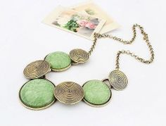 """Brand new mass made necklace listed as """"vintage"""" on Etsy.  Buy it here from the manufacturer:  http://www.aliexpress.com/store/product/Fashion-Mark-Min-Order-15-can-mix-Free-Shipping-Newest-Europe-Vintage-Jewelry-Necklaces-High-Quality/215114_690421239.html"""