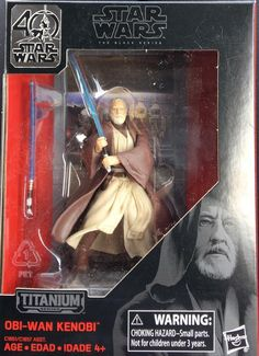Star Wars The Black Series 40th Anniversary Titanium Obi Wan Kenobi 3.75