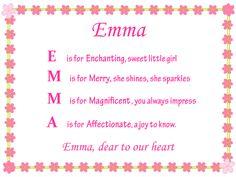 Acrostic Name Poems For Girls: Emma