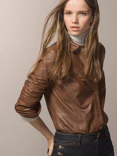 LEATHER OVERSHIRT - Leather - WOMEN - United States