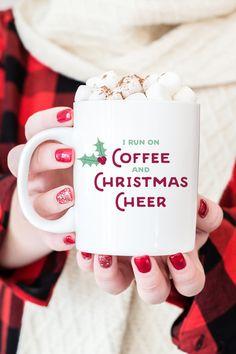 Christmas Mug, Fun Holiday Mug  Funny by MissDesignBerryInc