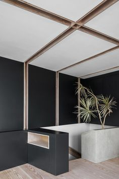 Levels Ten + Eleven is a minimalist space located in London, United Kingdom, designed by con Japanese Interior, Modern Interior, Interior Styling, Interior Architecture, Interior And Exterior, Interior Design, Office Ceiling, Ceiling Decor, Residential Architect
