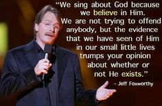 We sing about God because we believe in Him.