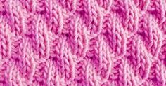 Right Diagonal Knit/Purl combination - A nice stitch pattern for new knitters. It is a good choice for scarves, pillows. Free chart and written instructions