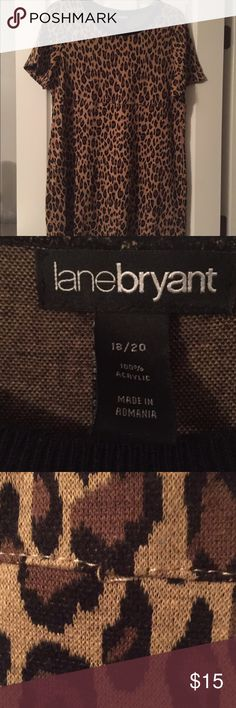 Lane Bryant animal print sweater dress Lane Bryant animal print sweater dress. Size 18/20 there are a few loose stitches but no holes (see pic) zoomed in to show. Lane Bryant Dresses