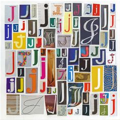 Letter J - Art Print of  Alphabet Collage Series. $12.00, via Etsy. -- Definitely getting for the baby's room! :)