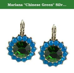 "Mariana ""Chinese Green"" Silver Plated Swarovski Crystal Sunflower Drop Earrings. About Mariana: The artist and jewelery designer, Mariana has been creating unique and original exotic pieces of fashion jewellery since 1997. Marianas jewelery is internationally recognized in major fashion centers around the world. The quality and ever changing designs have enabled the Mariana brand to achieve substantial growth all over the world. Marianas designs appeal to women of all ages from the..."