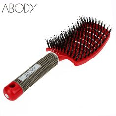 Abody Bristle&Nylon Detangle Hairbrush Women Hair Scalp Massage Comb Wet Hair Brush for Salon Hairdressing Styling Tools