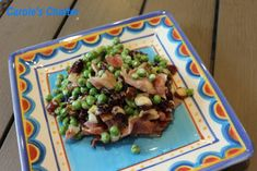 Carole's Chatter: Crunchy pea salad with bacon Dried Cranberries, Dried Fruit, Pea Salad With Bacon, Sour Cherry, Bacon Bits, Time To Eat, Frozen Peas, Quotations