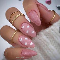 Cute Gel Nails, Pink Acrylic Nails, Glue On Nails, Acrylic Spring Nails, Cute Easy Nails, Pink Acrylic Nail Designs, Pastel Pink Nails, Shellac Nail Designs, Pink Nail Colors