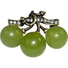 Vintage Joan Rivers Grapes Brooch