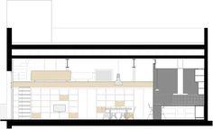 Loft Fábrica Grober,Sección Longitudinal 1