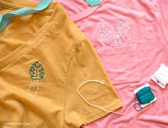How to Make an Embroidered T Shirt (Video)