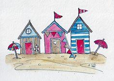 ORIGINAL 5x7 European Beach Houses on Etsy, $18.00