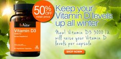 New Product: Vitamin D3 3000 IU. Keep your #VitaminD levels up all winter!   #vitamins #supplements #nutrition #invitehealth #health #gethealthy  http://www.invitehealth.com/vitamin-d3-3000-iu/womens-vitamins/