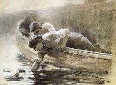 'see lilien', zeichnung von Winslow Homer (1836-1910, United States)