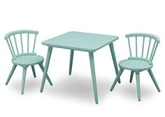 Delta Children Windsor Table & 2 Chair Set, Aqua