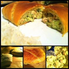 Brokkoli-Cheese-Chicken-filled Bread.  Easy recipe for busy families during the week. Can be prepared the night before and baked during homework time. Deliciously cheesy and great with rice or couscous. Also: fun fingerfood for any party.