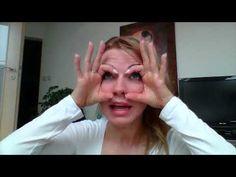 Cvik proti ovisnutým vrchným viečkam - YouTube Facial Yoga, Beauty Hacks, Fitness, Makeup, Face, Diet, Make Up, Beauty Tricks, The Face