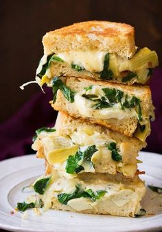 Spinach Artichoke Grilled Cheese | Food Recipes