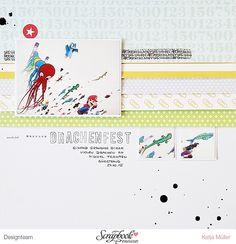 DT Scrapbook Werkstatt - Seven Paper Darcy - Layout von Katja Müller