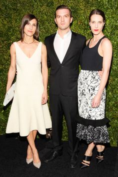 Samantha Traina, Max Snow and Vanessa Traina at Chanel's Tribeca Film Festival party. See all the best dressed looks from the night here.