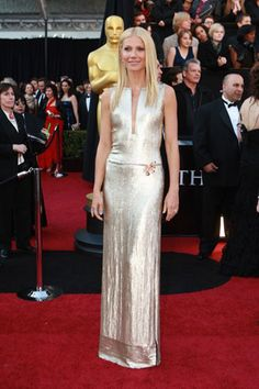 Gwyneth Paltrow—Gwyneth's performance may have been a little less than golden, but this shimmering Calvin Klein dress shone enough for the both of them.