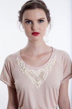 Camiseta Grace {Rosê} - Carolina Ancasy