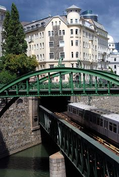 Vienna, Austria - The Zollamtssteg Bridge in Vienna Visit Austria, Austria Travel, Places Around The World, Around The Worlds, Monuments, Living In Europe, U Bahn, European Tour, A Whole New World