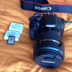 Canon Eos 550D + Tamron 17-50Mm F2,8 2 Batterie SD 16gb In Scatole Originali