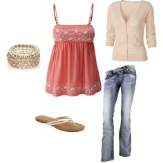 cute summer outfit, created by ccdail on Polyvore