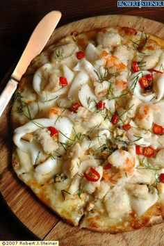 Seafood Pizza! Meatless Recipes, Pizza Recipes, Seafood Recipes, Cooking Recipes, Good Food, Yummy Food, Tasty, Croatian Cuisine, My Favorite Food
