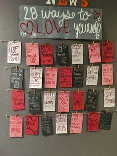 Love yourself bulletin board February bulletin board RA