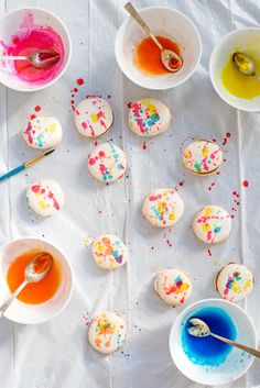 Awesome idea :: Painting Macarons with Edible Food Paint