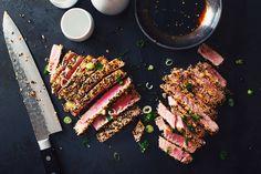 steak de thon avec croûte de sésame